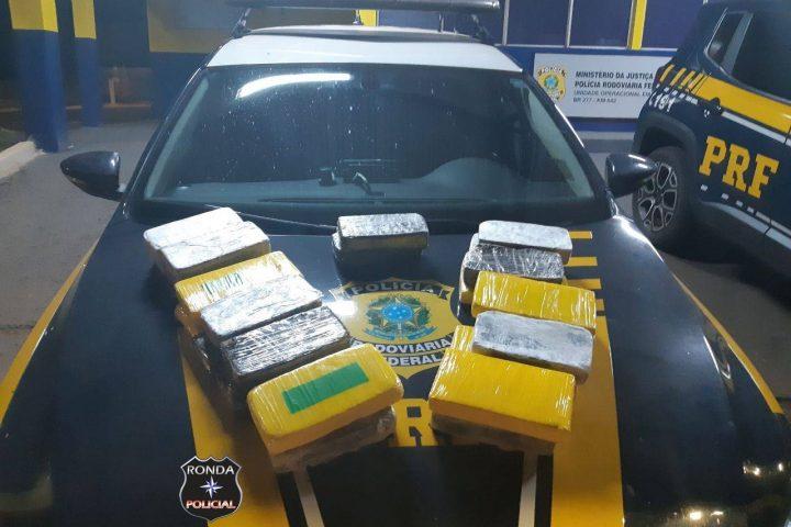 PRF realiza apreensão de cocaína que teria como destino Oeste Catarinense