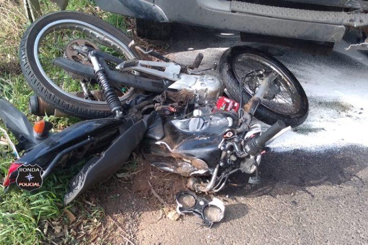 Moto de Xanxerê colide frontalmente com caminhão levando piloto a óbito