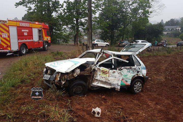 Servidor da Epagri fica gravemente ferido em violenta colisão com caminhão