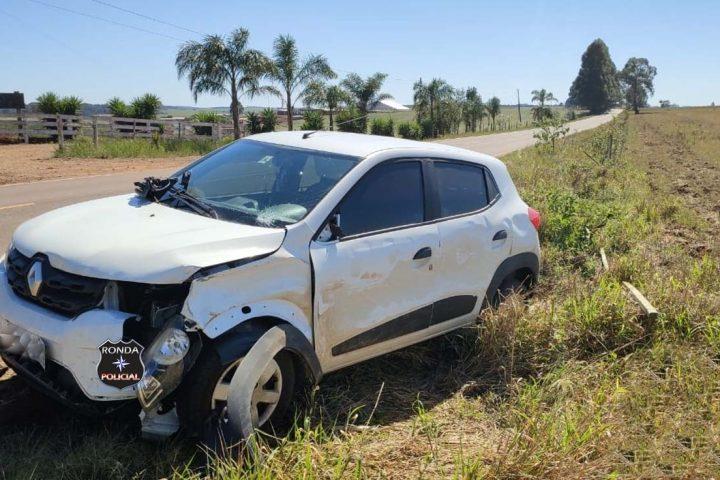 Polícia Rodoviária Estadual registra danos materiais em acidente na SC-305