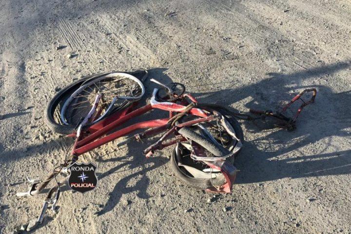 Ciclista fica gravemente ferido em atropelamento na SC-480