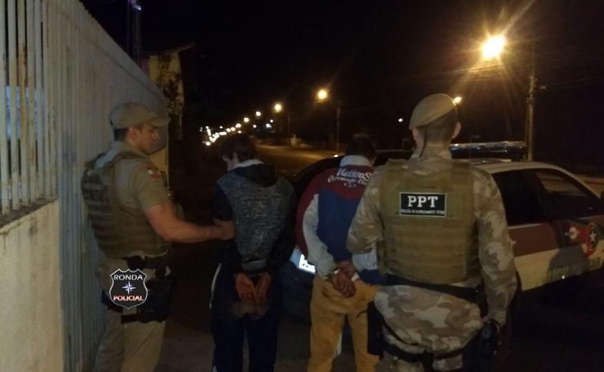 PPT de Xanxerê auxilia na prisão de assaltantes no interior de Abelardo Luz