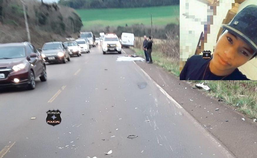 Identificado jovem que morreu em grave acidente de moto na SC-480 em Xanxerê