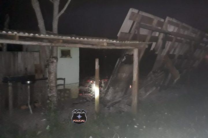 Quatro residências são destruídas por incêndio em comunidade rural