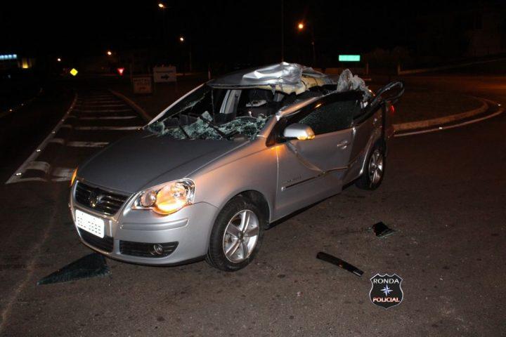 Família sobrevive a grave acidente na BR-282