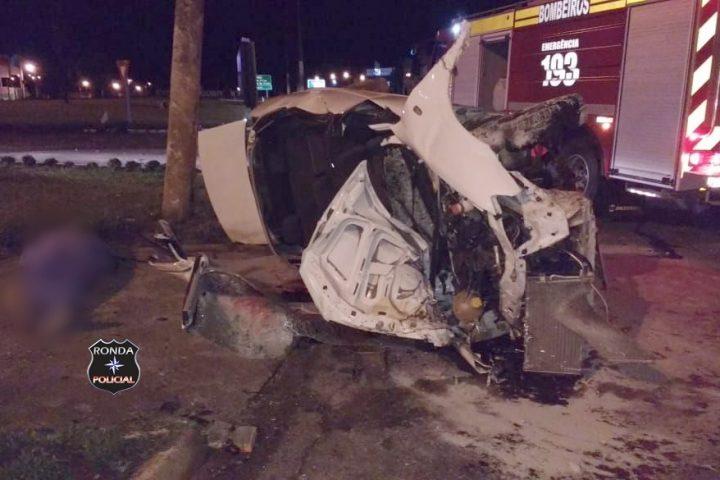 Policial Militar morre em grave acidente na BR-282