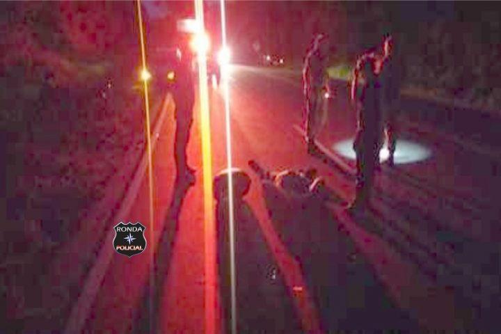 Motociclista sofre graves ferimentos ao se envolver em engavetamento em Cordilheira Alta