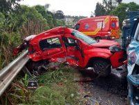 Fotos e vídeo: Mulher morre em grave acidente no final da tarde desta quinta-feira