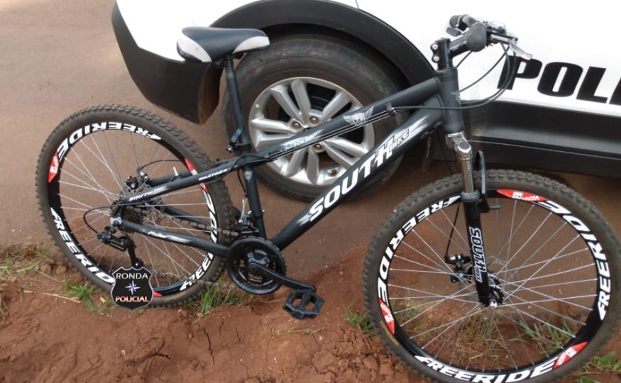 Polícia busca identificar proprietário de bike apreendida em Xaxim