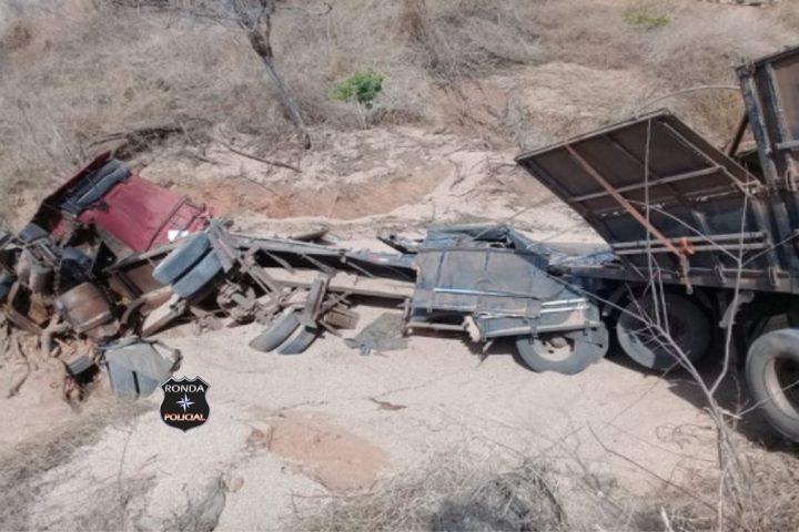 Caminhoneiro do Oeste morre em grave acidente no Ceará