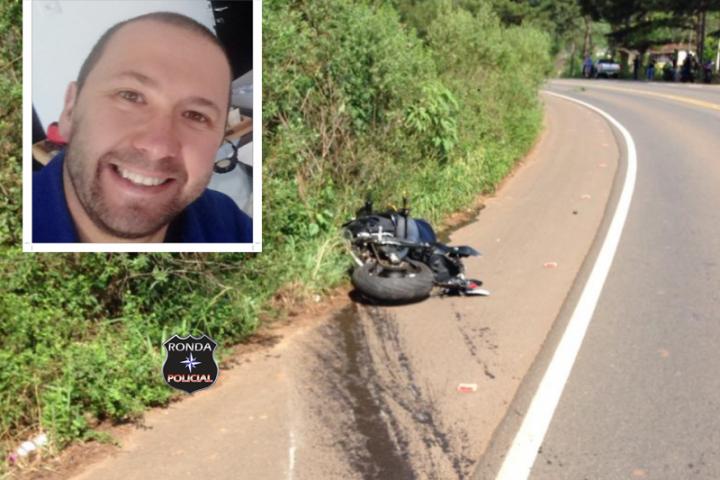 Motociclista morre ao colidir contra guard rail