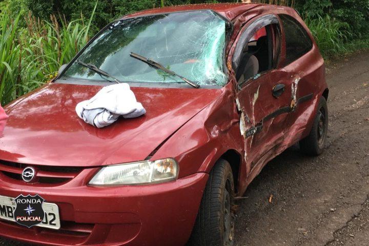 Óleo na pista causa acidente da SC 305