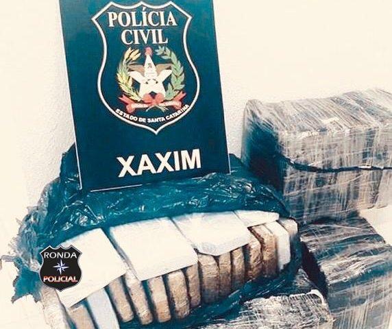 Polícia Civil de Xaxim identifica quem receberia mais de 80 kg de maconha apreendida na BR 282