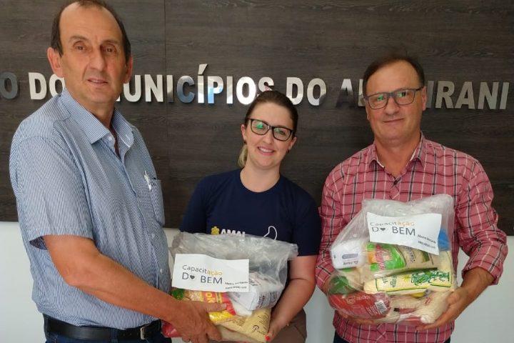 """CEMAB de Abelardo Luz recebe alimentos do projeto """"Capacitação do Bem"""""""