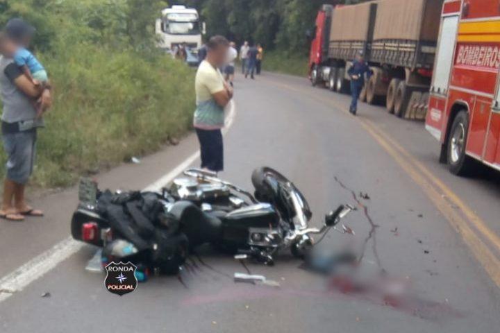 Motociclista tem perna amputada em grave acidente na BR-282