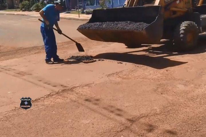 Em vídeo: Internauta critica operação tapa buraco realizada pela Prefeitura de Xanxerê no João Winckler