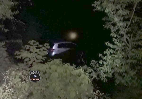 Motorista fica ferido após despencar em ribanceira a margem da 155 durante a madrugada