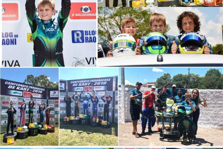 Piloto patrocinado pelo Sicoob Credimoc é tricampeão paranaense de kart