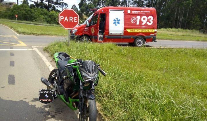 Duas pessoas ficam feridas em grave acidente envolvendo moto de Xanxerê na 282