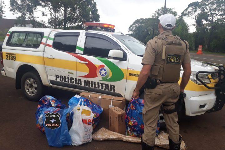 Polícia Militar Rodoviária Estadual apreende cerca de R$ 21 mil em mercadorias contrabandeadas