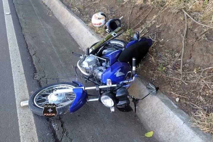 Duas pessoas ficam feridas em acidente de moto na 282 em Cordilheira Alta