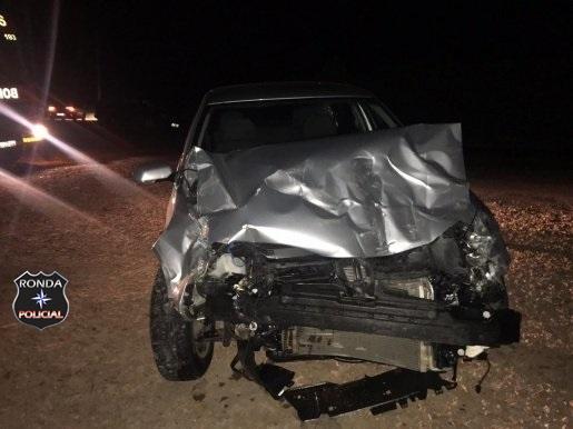 Cinco pessoas ficam feridas em acidente de trânsito