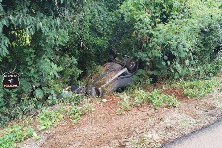Duas mulheres ficam feridas em acidente na BR 282 em Xaxim