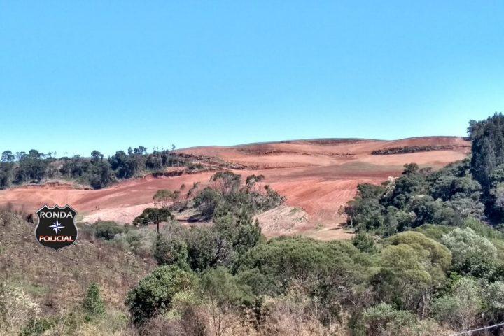 Polícia Ambiental flagra desmatamento em área de 23 hectares