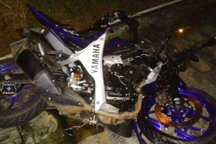 Motociclista fica gravemente ferido em acidente na SC 283