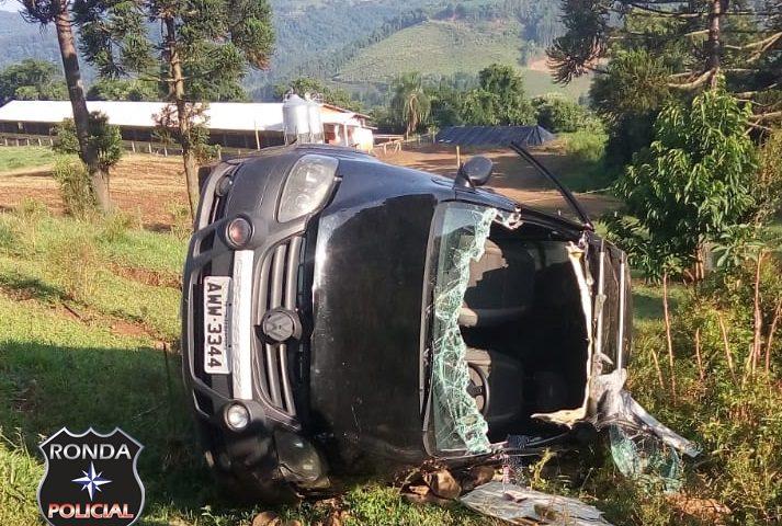 Homem fica gravemente ferido em acidente no interior