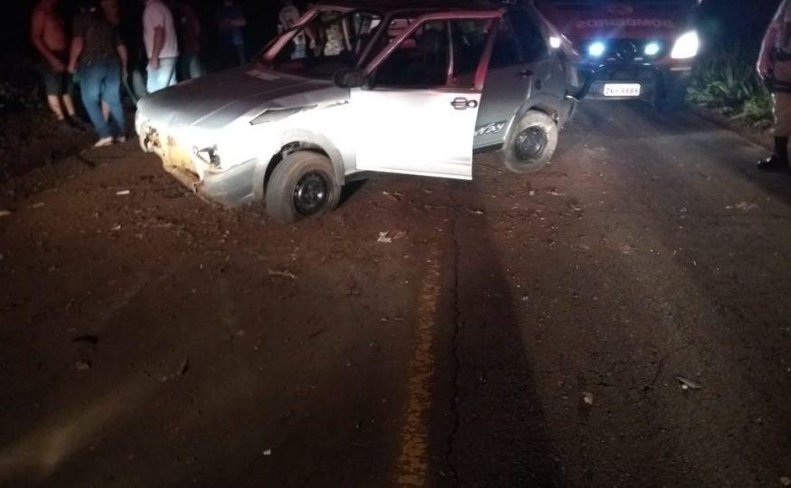 Jovem morre e quatro ficam feridos em acidente no Oeste