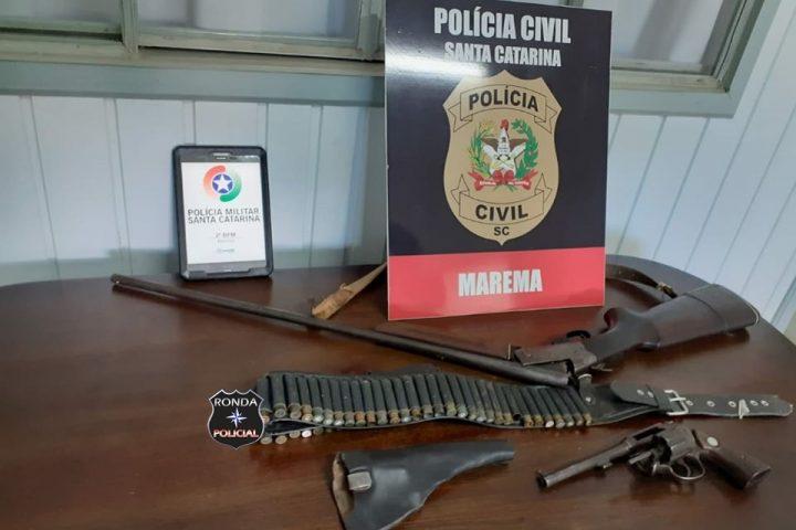 Armas são apreendidas durante operação realizada em Marema