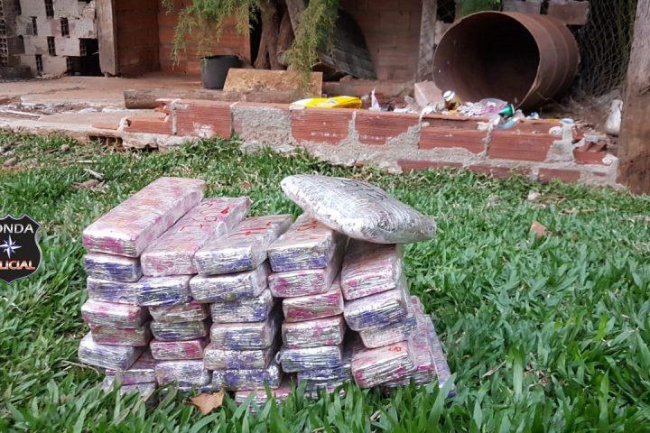 Polícia conclui investigação sobre grande apreensão de droga em área rural de Cordilheira