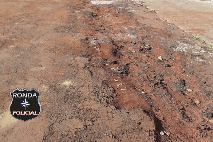 Pavimentação em rua de Xanxerê está se deteriorando