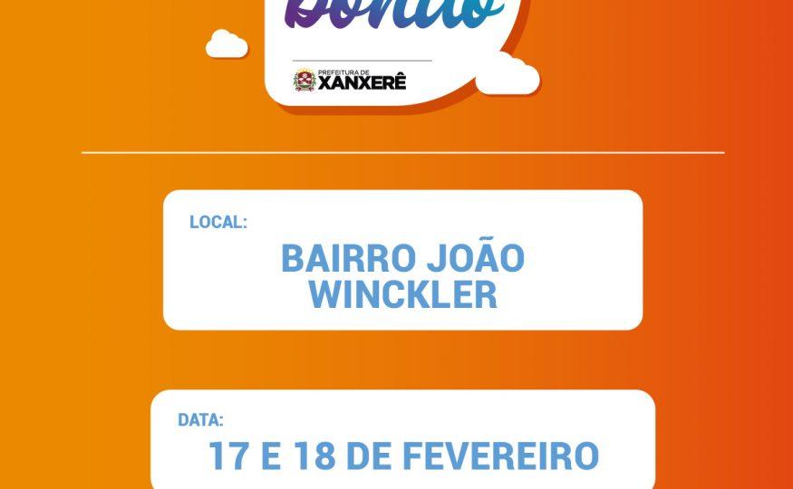 Bairro João Winckler receberá ações do MBMB