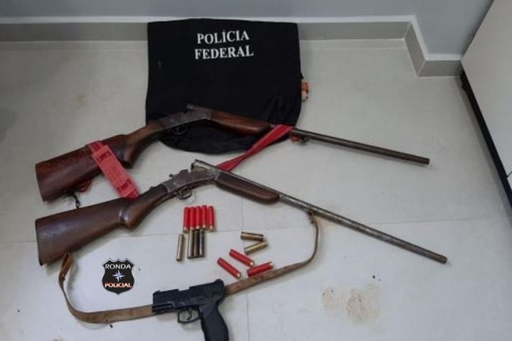 Operação realizada pela Polícia Federal apreende armas e munições na regional de Xanxerê