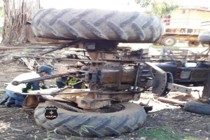 Jovem morre vítima de acidente com trator em propriedade rural