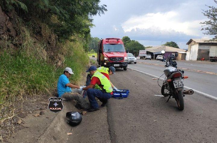 Carro de Xanxerê se envolve em acidente com vítima grave em Cordilheira Alta