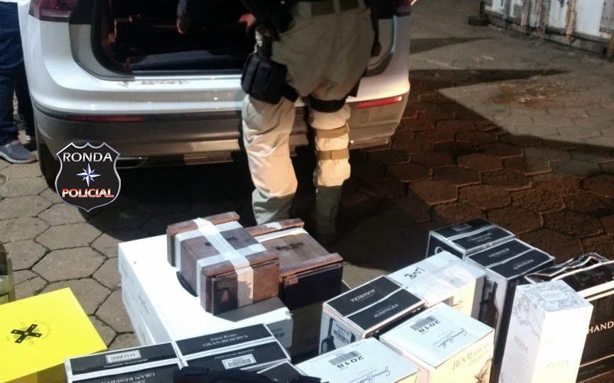Homem é flagrado com 200 garrafas de vinhos importadas ilegalmente na BR 163