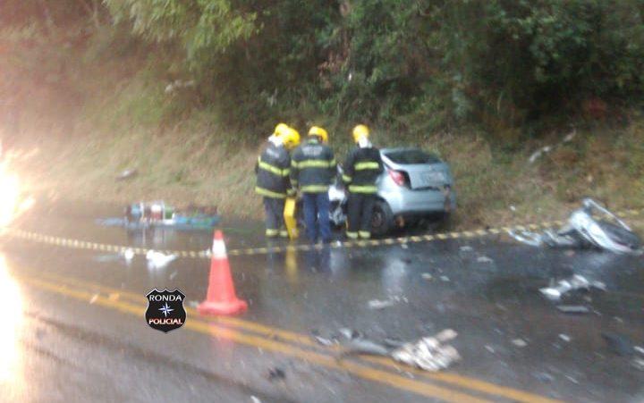 Grave acidente na manhã desta quarta-feira deixa trânsito lento na BR-282