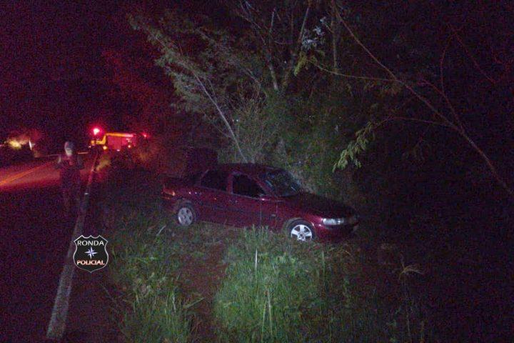 Jovem e duas crianças ficam feridas em acidente na SC-480