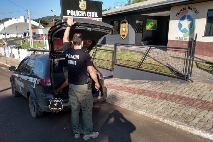 Polícia Civil prende em Vargeão jovem condenado por tráfico