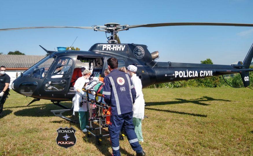 Vítima de atropelamento é encaminhado em estado grave ao Hospital de Chapecó