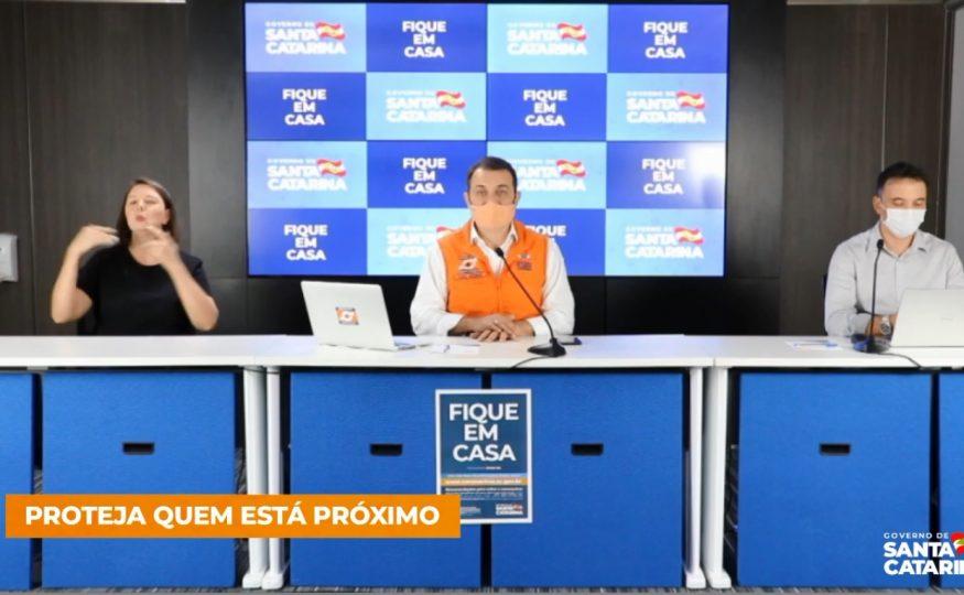 Governo prorroga suspensão de aulas, eventos e transporte coletivo por tempo indeterminado em Santa Catarina