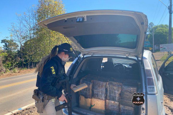Ação policial resulta na apreensão de aproximadamente 300 kg de maconha na 282