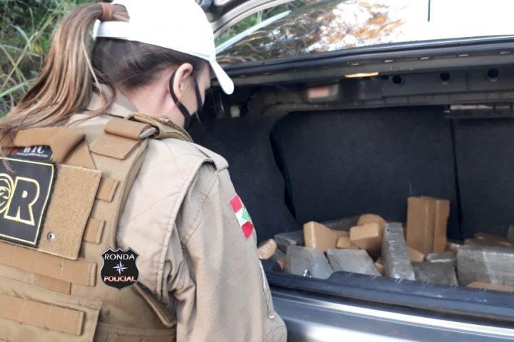 Polícia Militar Rodoviária Estadual apreende carregamento de maconha e recupera veículo furtado