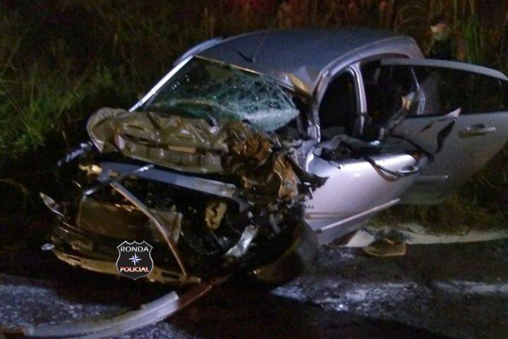 Motorista morre em grave acidente durante a madrugada