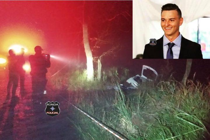 Jovem morre em grave acidente com carro de Xaxim durante a madrugada