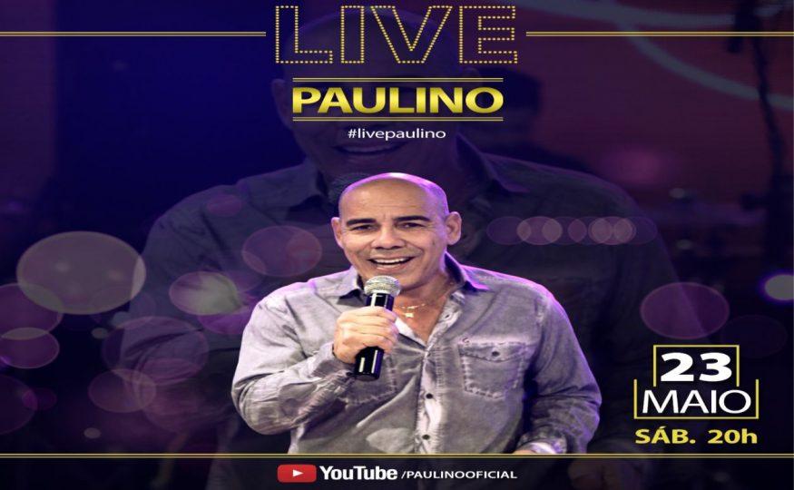 Cantor Paulino realiza neste sábado sua live com transmissão pelo Ronda Policial