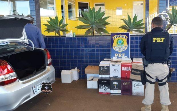 PRF apreende carregamento de vinhos importados ilegalmente para o Brasil